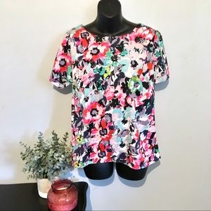 Kut from the Kloth Floral Tulip back top